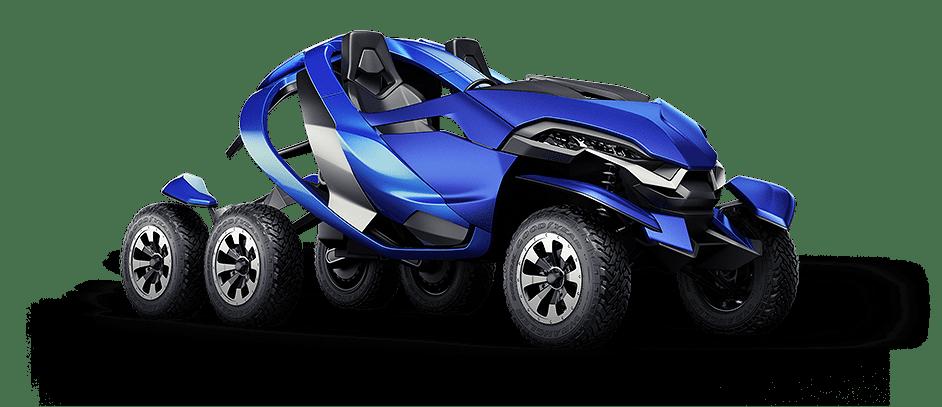 3d render of Azaris vehicle