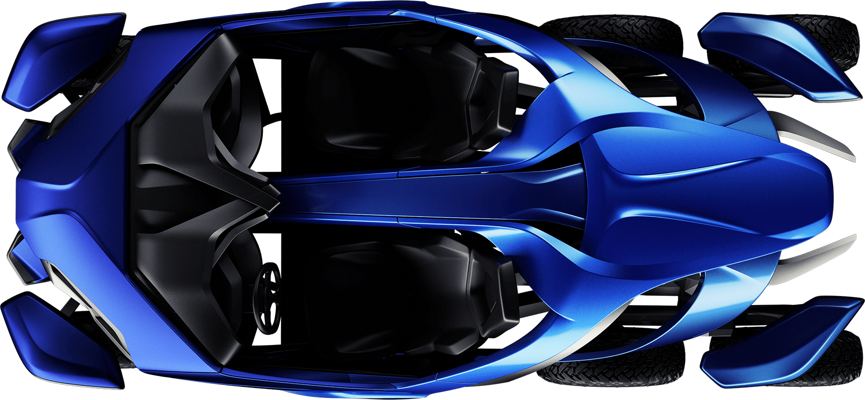 Top down view of the Azaris vehicle